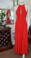Bianca Spender for Carla Zampatti dress.Sz6 silk maxi wrap.Worn once as new.