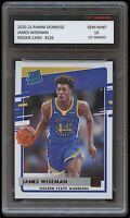 JAMES WISEMAN 2020-21 PANINI DONRUSS 1ST GRADED 10 RATED ROOKIE CARD RC WARRIORS