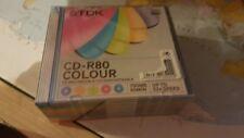 CUSTODIA IN PLASTICA RIGIDA COLORATA TRASPARENTE PER CD CRYSTAL SLIM PACCO 10