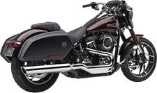 "Cobra 4"" Slip-On 6520B Sport Glide Chrome 909 Twins Harley FLSB 2018-2020"