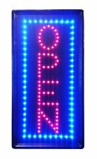 New Vertical Bright Neon Light Open Sign Restaurant Business Bar Door Store Shop