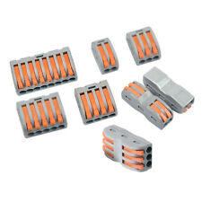 2/5/8 Way Reusable Spring Lever Terminal Block Electric Cable Wire Connector RM