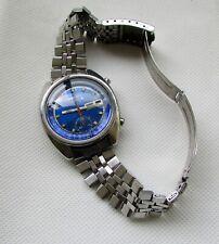 Seiko 6139 6013 Nice Blue Dial Run.