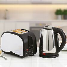 Daewoo Electric 1.8L Jug Kettle & 2 Slice Toaster Rapid Boil Twin Matching Set