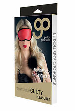 Guilty Pleasure - Two-Toned Blindfold and Tickler - Soft Sexy Eye Mask