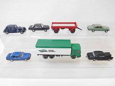 eso-6968Wiking 1:87 7 St. Autos/Anhänger mit Gebrauchsspuren,Kratzer