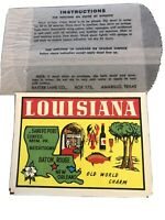 LOUISIANA Old World Charm Travel Decal Baxter Lane Co. Amarillo TX USA NEW ORIG.