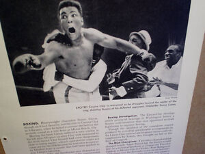 1965 CASSIUS CLAY 1964 PICTURE PRINT Defeats Sonny Liston,title,muhammad ali