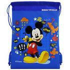 Disney Mickey Mouse Blue Drawstring Bag School Backpack