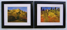 "Philip Craig  ""Crillion la Brave & olive Grove"" two prints in Shiny Black Frames"