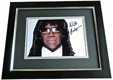 NILE RODGERS SIGNED 10X8 FRAMED Photo Autograph Display Music CHIC Le Freak COA