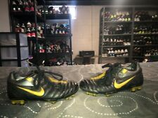Nike Jr Total 90 Shift FG Boys Youth Soccer Cleats Size 1.5Y Black Gold