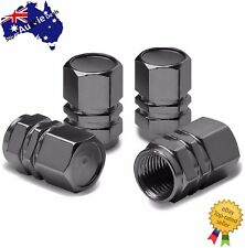 Black 1 Set 4 PCS Hexagonal Tyre Wheel Ventil Valve Cap For Auto Car Truck