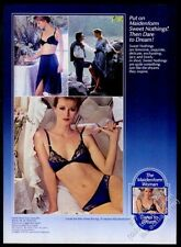 1984 Maidenform Woman lingerie blue bra panties petti photo vintage print ad