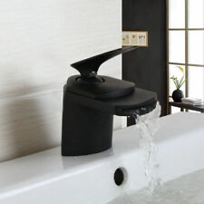 Waterfall Black Oil rubbed Spout Wash Basin Tap Mixer Sink Faucet Bathroom