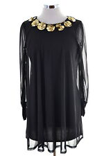 Topshop Womens Tent Dress Small Black Polyester