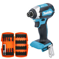 Makita DTD153 18V Brushless Impact Driver + 35Pc Screwdriver Bit Set With Holder