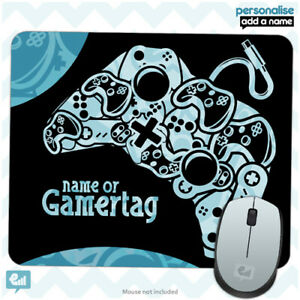 Personalised BOYS GAMER Controller Mouse Mat Pad Kids PC Laptop Computer Room