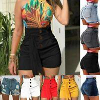 Women High Waist Shorts Casual Summer Hot Pants Short Jeans Denim Slim Trousers
