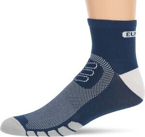 Eurosock Unisex 248421 Cycle Light Quarter Navy Blue Crew Cut Socks Size L
