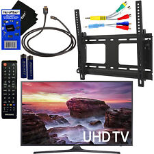 Samsung UN40MU6290 40�� HDR 4K UHD Smart LED TV + Remote + Component, HDMI Cabls