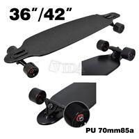 MAPLE DROP THROUGH Complete Skateboard LONGBOARD THRU Black