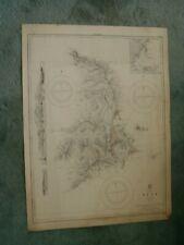 Vintage Admiralty Chart 1542 MEDITERRANEAN - SYRA ISLAND (SYROS) 1919 edn