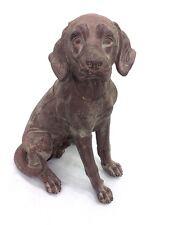 Large Dog Sitting Statue Sculpture Sitting Garden Decor