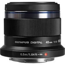 Olympus M. Zuiko Digital 1,8 / 45mm Objektiv schwarz für PEN und OM-D Neuware