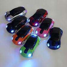 2.4GHz 3D Wireless Optical Mouse Mice Car Shape 1600DPI USB Receiver Laptop PC