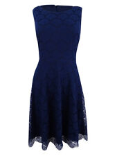 Jessica Simpson Womens Navy Fit & Flare Above Knee Party Dress 12 BHFO 2151