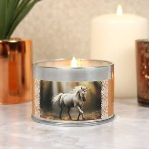 NEW Glimpse of a Unicorn Candle By Anne Stokes, Tin Woods Sun Nature Sandalwood