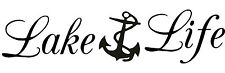 Lake Life Anchor Window Wall Art Car Truck Boat Trailer Fishing Beach Home Decal