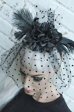 Velo Negro Halloween cadáver de la novia Horror Story vampiro flor corona Head Band