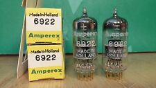 Pair Amperex PQ 6922 E88CC NOS NIB Gold Pin D-Getter 1958 Holland Vacuum Tubes