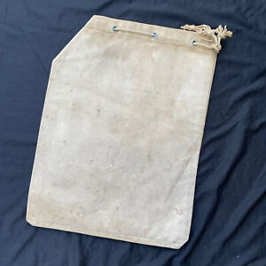 Antique Gold Mining Ore Quartz Canvas Sack W/ Paper Notice Of Discovery