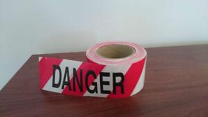 Red/White 'DANGER DO NOT ENTER' Barrier Tape, 75mm x 100m, Carton of 16