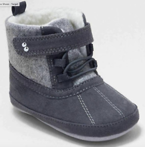 Baby Boys' Surprize by Stride Rite Dean Mini Boots - Grey NEW