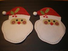 Adorable 2 pack of Kids' Santa Claus Placements Machine Washable Christmas Table