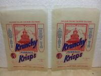 Morrisco – Krunchy Krisps – 2 x unused 1950s Crisps Bags / Packets North Walsham