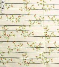 Orange,Red,Gold Floral Print on Branch,Brown Strip Cotton Fabric,Crafts