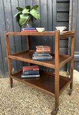 Large Vintage 1950's Utility Three Tier Tea Trolley / Drinks Trolley