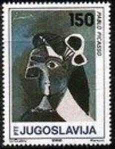 YUGOSLAVIA - 1986 - Modern Painting by Pablo Picasso - MNH Stamp - Scott #1832