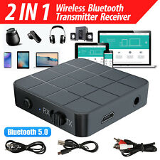 2in1 Bluetooth5.0 Wireless Audio Transmitter Receiver HIFI Music/Adapter RCA AUX