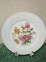 """Homer Laughlin EGGSHELL THEME Dinner Plate 9 7/8"""" Embossed Floral TH6 1940's"""