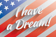 I Have a Dream Martin Luther King Jr Quote Flag Art Print Poster 18x12 inch