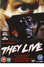 THEY LIVE DVD Roddy Piper Keith David George Flower Original UK Release New R2