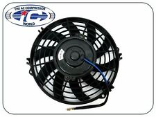 "Universal 9"" Cooling Fan S-Blade 90 Watts Pusher/Reversible 12V With Mount Kit"