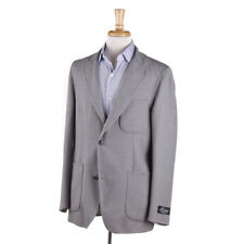 NWT $1995 BELVEST Reversible Gray Wool and Silk Blazer 40 R Sport Coat (Eu 50)