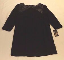 40f4dfdb7a Zara Basic Black Shift Tunic Sleeveles Dress Work Office Party Chest 38